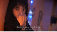 Tumblr, Blog, and Death: Rebellion is saying fuck off to fear,  death and boredom nanasgf:  明日なんてない directed by Julien Levy