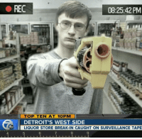 smh streets are getting outta hand😓.....🍩c: REC  08:25:42 PM  ayusefbro  ll TOP TEN AT 10PM li  DETROIT'S WEST SIDE  LIQUOR STORE BREAK-IN CAUGHT ON SURVEILLANCE TAPE smh streets are getting outta hand😓.....🍩c