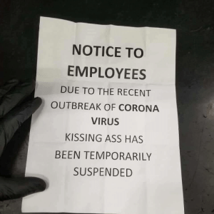 Received notice at work :): Received notice at work :)