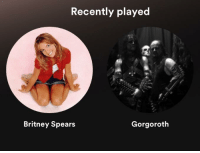 gorgoroth: Recently played  Britney Spears  Gorgoroth