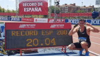 Bailey Jay, Record, and Esp: RECORD DE  ESPANA  357A  On  LOT  RECORD ESP 200  20.04 ¡Bruno Hortelano bate el récord de España de 200 metros con 20.04! ¡¡Impresionante!! cabroworld