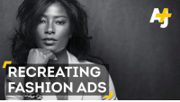 What should high fashion look like? This black model says: less monochromatic.: RECREATING  FASHION ADS What should high fashion look like? This black model says: less monochromatic.