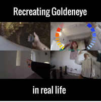 This brought back way too many happy memories! 🙌🙌: Recreating Goldeneye  in real life This brought back way too many happy memories! 🙌🙌
