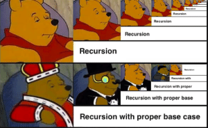 Define, Case, and Remember: Recursion  Recursion  Recursion  Recursion  Recursion with  Recursion with proper  Recursion with proper base  Recursion with proper base case Always remember to define the base case