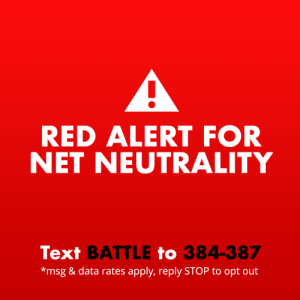 Internet, Reddit, and Run: RED ALERT FOR  NET NEUTRALITY  Text BATTLE to 384-387  *msg & data rates apply, reply STOP to opt out staff:  🚨This is a Red Alert for net neutrality 🚨Last December, the FCC voted to to kill net neutrality. If we do not take action, this will kill the free and open internet as we know it. The internet needs you—all of you—to make sure your voices are heard NOW. We need all hands on deck for this one. It may be our last chance. If you're feeling under-informed and overwhelmed about why net neutrality is so incredibly important, we have this handy guide just for you. Here's what you can do to save the internet:In mid-May, the Senate will vote on a resolution to overrule the FCC using the Congressional Review Act (CRA). We only need one more vote in the Senate to win. Write or call your Senators or Representatives. You can also text BATTLE to 384-387 to get more information on how to write to your reps. You can do this, Tumblr.Join us and dozens of your other favorite companies like Etsy, Vimeo, Reddit, and GitHub to raise awareness with the Red Alert campaign being run by Battle for the Net. Just add this small widget to your Tumblr to let your followers know how they can contact their reps. It's as easy as copying and pasting the small line of code right into the customize theme page on the web.This is important. This matters. It's up to you to help.