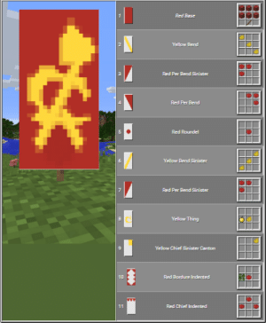 Make Pewdiepie see this so he can make the Hammer and Sickle: Red Base  2.  Yellow Bend  Red Per Bend Sinister  4.  Red Per Bend  Red Roundel  Yellaw Bend Sinister  Red Per Bend Sinisiter  Yellow Thing  Yellow Chief Sinister Canton  10  Red Bordure indented  11  Red Chicf Indented  co Make Pewdiepie see this so he can make the Hammer and Sickle