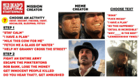 """memes creator: RED DEAD  REDEMPTION  STARTERPACK  MISSION  CREATOR  MEME  CREATOR  CHOOSE TEXT  """" BOAH',  """"FUCK MICAH""""  """"I HAVE A PLAN""""  """"SO THIS HAPPENED""""  """"DETAIL IS INCREDIBLE""""  WHY IS THE BEST""""  """"LENNEEHHHHH YNNEL'""""  CHOOSE AN ACTIVITY  HEIST, ESCORT, FISHING, HUNT,  SOCIALIZE, SLEEPING, FETCH  STEP 1  """"STAY CALM""""  """"I HAVE A PLAN""""  """"MILK THIS COW FOR ME""""  """"FETCH ME A GLASS OF WATER""""  """"HELP MY GRANNY CROSS THE STREET""""  STEP 2  FIGHT AN ENTIRE ARMY  ESCAPE THE PINKTERTONS  ROB BANK, LOSE THE MONEY  GET INNOCENT PEOPLE KILLED  DO YOU HEAR THAT?, GET AMBUSHED"""