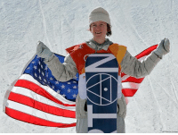 Red Gerard, of the United States, holds the American flag after winning gold in the men's slopestyle final at Phoenix Snow Park at the 2018 Winter Olympics in Pyeongchang, South Korea.: Red Gerard, of the United States, holds the American flag after winning gold in the men's slopestyle final at Phoenix Snow Park at the 2018 Winter Olympics in Pyeongchang, South Korea.