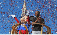 The New England Patriots' James White waved to the crowd during a celebration parade at the MagicKingdom in Florida. White had a record-setting Super Bowl performance, including the game-winning score.: (Red Huber/Orlando Sentinel via The New England Patriots' James White waved to the crowd during a celebration parade at the MagicKingdom in Florida. White had a record-setting Super Bowl performance, including the game-winning score.