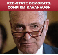 Red-state Democrats pretend to support my agenda but they vote with liberal Chuck Schumer. These vulnerable Senators must side with THE PEOPLE and CONFIRM Kavanaugh!: RED-STATE DEMORATS:  CONFIRM KAVANAUGH Red-state Democrats pretend to support my agenda but they vote with liberal Chuck Schumer. These vulnerable Senators must side with THE PEOPLE and CONFIRM Kavanaugh!