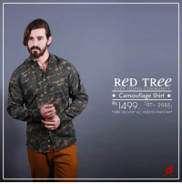 "Camouflage Shirt Product Code : RT-2665 Price : Rs-1499/- (+ Shipping free all over Pakistan) For online order at : https://goo.gl/cZn7f9 (Or Inbox Us on Facebook) Call | Whats app | Message : 0340-8369854 Delivery time : 3 to 4 days CASH ON DELIVERY  Free Delivery all across Pakistan  KARACHI OUTLETS: - SAIMA Shopping Mall, F-112 & F-113, 1st Floor, Opposite Askari IV, Gulistan-e-Jauhar, Karachi. - The REX CENTER opposite Atrium Mall, next to STONE-AGE, Shop number G-10,Karachi. HYDERABAD: - Shop no 4 & 5 Autobhan Road, Hyderabad. MULTAN OUTLET: - Shop no.5 , Ali Garh Market   — Products shown: RT-2665 and RT-2665.: ReD TRee  EVER YOUNG COMMUNITY  Camouflage Shirt  Rs.1492. RT- 2665  ""FREE DELIVERY ALL ACROSS PAKISTAN Camouflage Shirt Product Code : RT-2665 Price : Rs-1499/- (+ Shipping free all over Pakistan) For online order at : https://goo.gl/cZn7f9 (Or Inbox Us on Facebook) Call 
