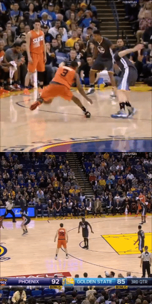 HBD Brandon Knight! He's been on the wrong end of some memorable highlights but he's also had his share of great ankle-breakers and poster dunks. https://t.co/cBryUY1mU4: REDAPPLES  SUns   REDAPPLES  35  92  GOLDEN STATE 85 3RD QTR  PHOENIX  XH  BONUS  BONUS HBD Brandon Knight! He's been on the wrong end of some memorable highlights but he's also had his share of great ankle-breakers and poster dunks. https://t.co/cBryUY1mU4