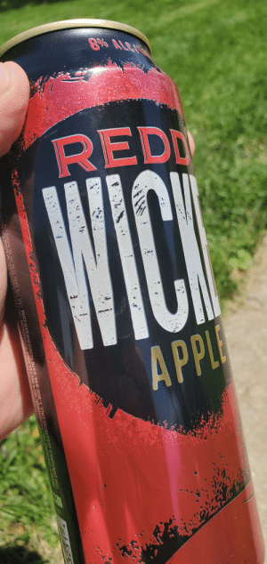 Drinking, Winter, and Spring: REDD  pl Drinking some Wicked and mowing the lawn. Finally after a long winter and a rainy spring. Weather is permitting me to finally mow my grass.... sun's shining here in Hoosier town.