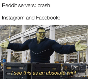 Reddit Servers Crash Instagram and Facebook See This as an