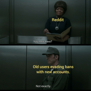 A small price to pay: Reddit  You new here?  Old users evading bans  with new accounts.  Not exactly. A small price to pay