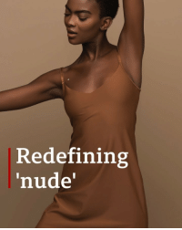 Fashion, Instagram, and Memes: Redefining  nude' Fashion brand @nubianskin was borne out of creator Ade Hassan's frustration that she couldn't find nude tights to match her skin tone. Tap the link in our bio☝🏽to see how she has created lingerie and hosiery for a range of skin tones, and used Instagram and Twitter to spread the word. fashion clothing instafashion bbcnews
