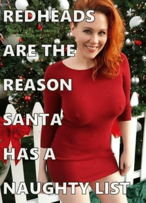 For the naughty busty redheads