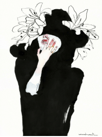 Spanish, Tumblr, and Black: redlipstickresurrected:  Conrad Roset (Spanish, b. 1984, Terrassa, Spain) - Black 31  India Ink, Watercolors on Canson Moulin du Roy Paper