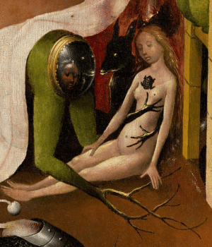 redlipstickresurrected:  Hieronymus Bosch aka Jeroen Anthonissen van Aken (Dutch, 1450-1516, Netherlands) - The Garden of Earthly Delights (detail), c. 1480-1505, Paintings: Oil on Panel: redlipstickresurrected:  Hieronymus Bosch aka Jeroen Anthonissen van Aken (Dutch, 1450-1516, Netherlands) - The Garden of Earthly Delights (detail), c. 1480-1505, Paintings: Oil on Panel