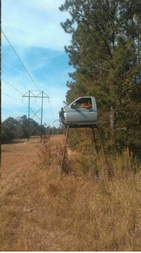 Redneck deer stand or the beginning of a sweet monster truck!: Redneck deer stand or the beginning of a sweet monster truck!