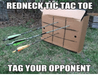 REDNECK TIC TAC TOE  TAG YOUR OPPONENT