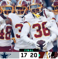 FINAL: The @Redskins WIN! #HTTR https://t.co/ODz7GbMG6K: REDSK  REDS  KINS  FINAL  17 20 FINAL: The @Redskins WIN! #HTTR https://t.co/ODz7GbMG6K