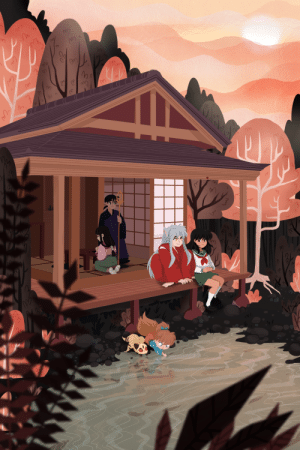 redsketches:Full version of my piece for @standbymezine! Preorders are open now! I really wanted to do a throwback to Inuyasha and I thought the feeling of the whole series went well with the 'Stand By Me' theme. I'm super happy with how the depth of field came out!: redsketches:Full version of my piece for @standbymezine! Preorders are open now! I really wanted to do a throwback to Inuyasha and I thought the feeling of the whole series went well with the 'Stand By Me' theme. I'm super happy with how the depth of field came out!