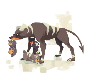 bedupolker:houndour puppies are cute totally worth loosing a limb for: REDUPOLKER bedupolker:houndour puppies are cute totally worth loosing a limb for