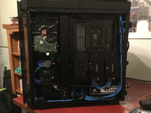 Gotta remember to appreciate both ends of your PC.: Reee Fe  ו :ווכ  מ 0ו  CORSAIR  TO RGB  AX1000  CORSAIR  SAMSUNG  Solid State Drive  SAMSUNG  Solld State Drive  Sype 4  85.  TEMP  FANS  CORSAIR  anH  1008  SAAPUI  VOTCE  CITMS  Busfns  Controller Gotta remember to appreciate both ends of your PC.