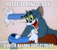 You live and you learn: REFACTORING CODE  A-WEEK BEFORE DEPLOYMENT You live and you learn