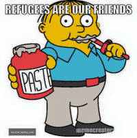 From our friend Jim. -Jacob: REFUGE  OUR FRIENDS  O LO  meme creator  vector junky.con From our friend Jim. -Jacob