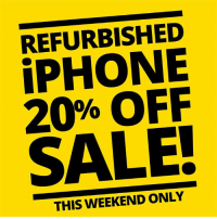 REFURBISHED  20% OFF  SALE!  THIS WEEKEND ONLY Grab a great deal on one of our 4 and 4s refurbished iPhone's this weekend only.  Click the link for more info:  http://bit.ly/EBNZ_20off_IPhone