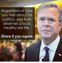 - Happie birtday marks: Regardless of how  you feel about his  politics, Jeb Bush  deserves a loud,  healthy sex life  Share if you agree. - Happie birtday marks