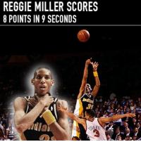 Name top 3 most clutch players ever🔐: REGGIE MILLER SCORES  8 POINTS IN 9 SECONDS  Inda 6 Name top 3 most clutch players ever🔐