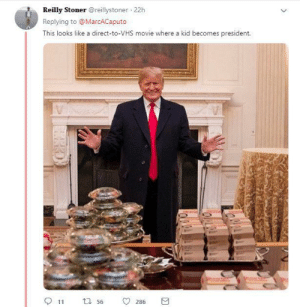 Dank, Memes, and Target: Reilly Stonerreillystoner 22h  Replying to @MarcACaputo  This looks like a direct-to-VHS movie where a kid becomes president.  11  56  0286 Richie Rich all grown up by cajunflavoredbob MORE MEMES