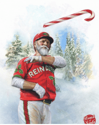 Mlb, Brand, and Branding: REIN  Blandi Probably getting beaded next Christmas H-t Brands of Santa