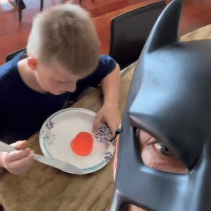 Dank, 🤖, and Rejoice: Rejoice! Batkid is a visionary.  By Batdad