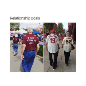 awesomacious:  Relationship goals tbh: Relationship goals  IF LOST  SINC  19  RETURN TO  5  JAN awesomacious:  Relationship goals tbh