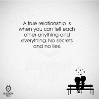 True, Can, and Secrets: RELATIONSHIP  RULES  A true relationship is  When you can tell each  other anything and  everything. No secrets  and no lies.