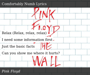 Pink Floyd-The Wall-Comfortably Numb