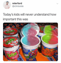 Kids, Never, and How: relerford  @chrisrele  day's kids will never understand how  important this was  lo They'll never understand 😩😭💯 https://t.co/kUbHKP9LMW