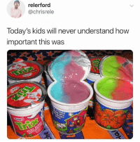 Wshh, Kids, and Never: relerford  @chrisrele  Today's kids will never understand how  important this was They'll never understand 😩😭💯 #WSHH