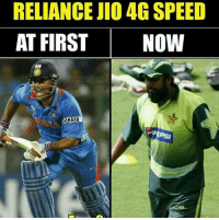 Memes, 🤖, and Yes: RELIANCE JIO 4G SPEED  AT FIRST  NOW  SAHARA  EPSI Yes 😥😂