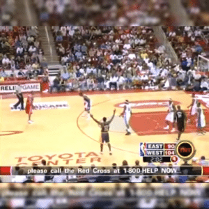 Remembering T-Mac and Gilbert Arenas' back to back long range 3-point shootout during 2005 Hurricane Katrina Relief Game in Houston. https://t.co/m4ackOyGSE: RELIGAME  21  EAST 90  104  ANTER  please call the Red Cross at 1-800-HELP NOW Remembering T-Mac and Gilbert Arenas' back to back long range 3-point shootout during 2005 Hurricane Katrina Relief Game in Houston. https://t.co/m4ackOyGSE