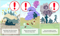 Pokemon, Pokemon GO, and Net: Remamber, don't be a Snorlax.  Don't block road for others.  Please, leave your favorite  Pokemon Stops clean.  Try to not smoke in crowd.  Nobody likes to breath Koffing fumes  hance.net /Maada More warnings for Pokemon Go trainers https://t.co/rnUfdkwKzb