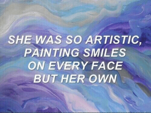 remanence-of-love:  Painting smiles on every face but her own…: remanence-of-love:  Painting smiles on every face but her own…