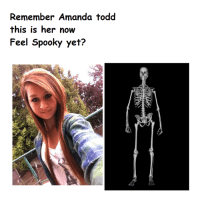 Remember Amanda todd  this is her now  Feel Spooky yet? RIP Amanda Toad :'( 💀 a tru angel 💜💜💜