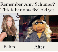 """<p>Before and after Amy schumer via /r/dank_meme <a href=""""https://ift.tt/2Kswb7L"""">https://ift.tt/2Kswb7L</a></p>: Remember Amy Schumer?  This is her now feel old vet  RO  MEDY  Before  After <p>Before and after Amy schumer via /r/dank_meme <a href=""""https://ift.tt/2Kswb7L"""">https://ift.tt/2Kswb7L</a></p>"""
