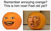 Annoyed: Remember annoying orange?  This is him now! Feel old yet?