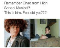 High School Musical: Remember Chad from High  School Musical?  This is him. Feel old yet???